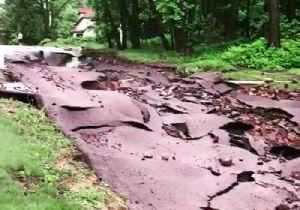 News video: Roads Washed Out by Flash Flooding in Houghton