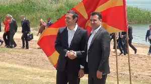 News video: FYROM name change deal with Greece signed by leaders