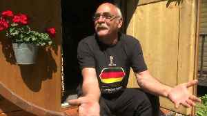 News video: German fan says prejudices about Russia 'simply gone' as he cruises in Moscow on tractor