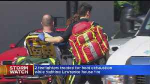 News video: Firefighters Rescue Man With Severe Burns From Lawrence Home