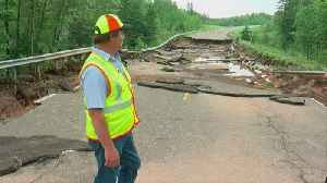 News video: Saturday Storms Wash Out Roads Near Duluth