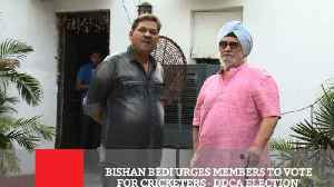 News video: Bishan Bedi Urges Members To Vote For Cricketers DDCA Election
