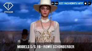 News video: Romy Schonberger Models Spring/Summer 2018 | FashionTV | FTV
