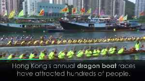 News video: Annual dragon boat races in Hong Kong attract hundreds