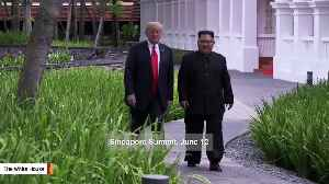 Trump And Kim Jong Un Go For A Walk Like Two Normal Dudes