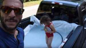 News video: Man Turns a Pickup Truck Into a Pool for Father's Day