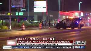 News video: OVERNIGHT: Homeless man stabbed, killed on Maryland Parkway