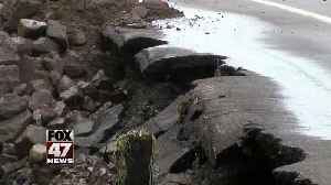 Flash flooding washes out roads in Michigan's upper peninsula