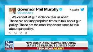 News video: NJ Gov calls for more gun control, ignores gang history and early prison release