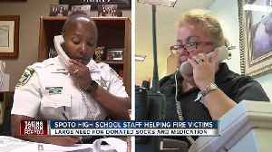 News video: Spoto high school staff hosting donation drive for students displaced by Riverview apartment fire