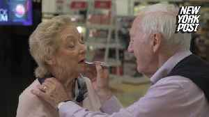News video: 84-year-old hubby does his blind wife's makeup like a pro