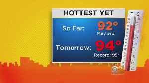 News video: Possible Record-Setting Temps On The Way For Monday