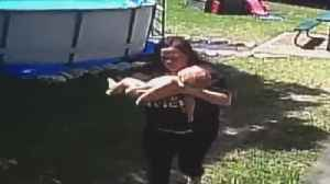 News video: Texas Mom Performs CPR on Baby After He Climbed Ladder of Above Ground Pool