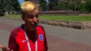 She's queer, she's here: England supporter takes gay rights campaign to Russia World Cup
