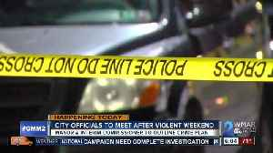 News video: Baltimore officials set to meet after another deadly weekend in the city