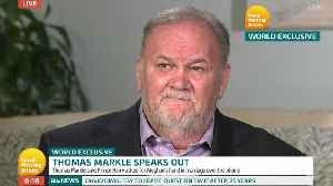 News video: Thomas Markle: Meghan Cried When I Missed Her Wedding
