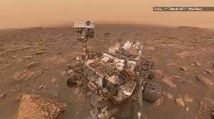 Curiosity Rover Takes Selfie During Raging Mars Dust Storm