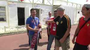 News video: Panama, Belgium fans touch down in Sochi for World Cup clash