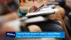 News video: Puerto Rican students apply for area colleges