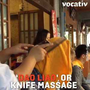 News video: Would You Try A Massage Done With Butcher Knives?