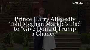 News video: Prince Harry Allegedly Told Meghan Markle's Dad to