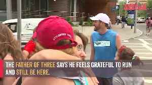 News video: Heart patient runs to celebrate post-surgery milestone
