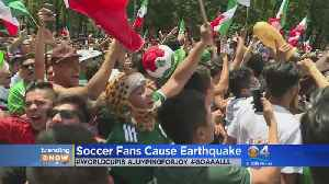 News video: Trending: World Cup Celebrations Cause Earthquake In Mexico