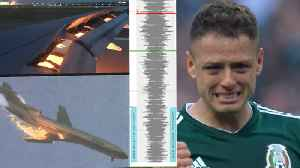 News video: Saudi Arabia's Team Plane On FIRE! Mexico's Celebrations Cause Earthquake! | 2018 FIFA World Cup