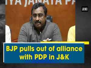 News video: BJP pulls out of alliance with PDP in J&K