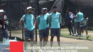 News video: Rahane On Standby As Rohit Sharma Prepares For Yo Yo Test