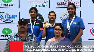 News video: Mehuli Ghosh Bags Two Gold Medals At Kss Memorial Shooting Championship