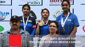 News video: My Target Is To Qualify For The 2020 Olympics : Mehuli Ghosh