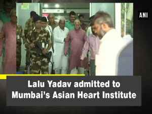 Lalu Yadav admitted to Mumbai's Asian Heart Institute [Video]