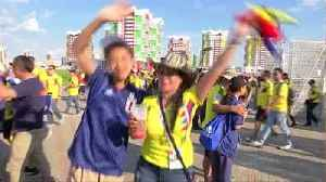 Japan fans party as Colombians blame referee after 2-1 loss