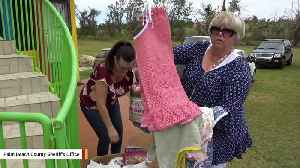 News video: 99-Year-Old Woman And Her Church Group Make Dresses For Children In Puerto Rico