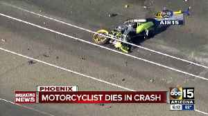 News video: Motorcyclist killed in crash in north Phoenix