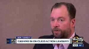 News video: Cashing in on class action lawsuits