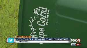 News video: Waste Pro getting back lash for lack of service
