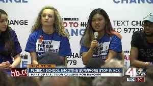 News video: Parkland students talk gun laws with local teens