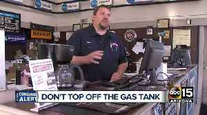 News video: Experts warn topping off gas tank costs more