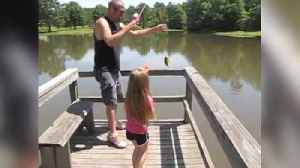 Tot Girl Gets Excited About Fishing But Runs Away When She Sees Her Prey
