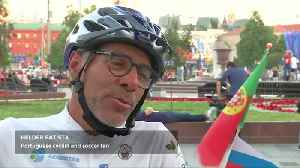 Ronaldo fan cycles Portugal to Russia for World Cup