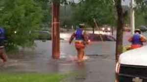 News video: Rockford Fire Department Rescues People from Cars Submerged in Flooding