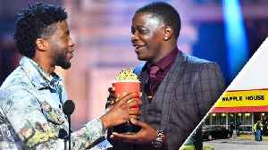 'Black Panther' Star Chadwick Boseman Dedicates MTV Award to Waffle House Hero [Video]