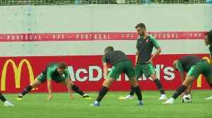 News video: Ronaldo and Portugal train