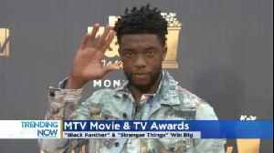 News video: 'Black Panther' Wins Movie Of The Year At MTV Movie Awards