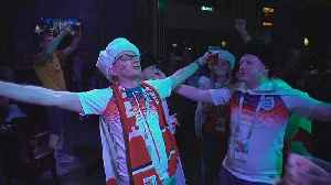 Fans in high spirits after England win opening game in World Cup