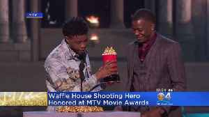 News video: 'Black Panther' Gives MTV Award To Waffle House Hero