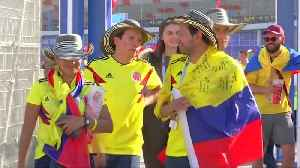 News video: Japan fans party as Colombians blame referee after 2-1 loss
