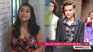 News video: Millie Bobby Brown SHUTS DOWN Bullies After Quitting Twitter At 2018 MTV Movie & TV Awards